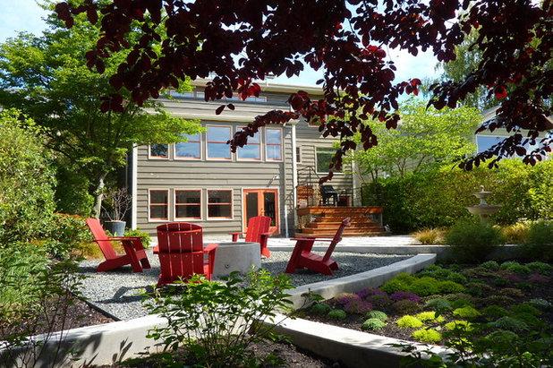 Fancy Contemporary Landscape by Erin Lau Landscape Design Seattle