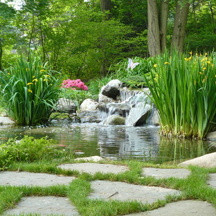 Inspiration for an eclectic water fountain landscape in Philadelphia.