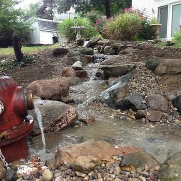 Pondless Waterfall for Retired Fire Fighters