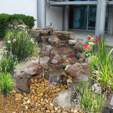 Landscape dry creek bed design ideas pictures remodel for Landscaping rocks ocala florida