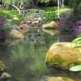 Inspiration for a mediterranean water fountain landscape in Santa Barbara.
