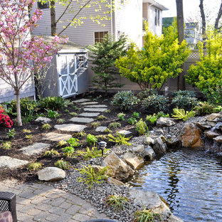 Design ideas for a traditional waterfall in New York.