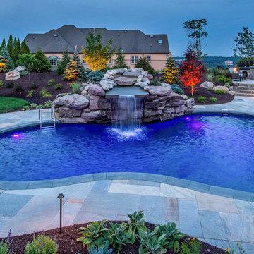Pool and Fireplace - Totowa, NJ