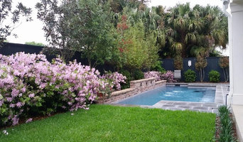 Pool, waterfall, and landscaping