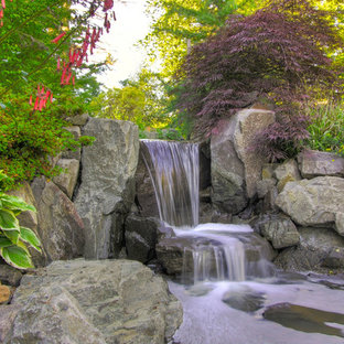 This is an example of a rustic waterfall in Portland.