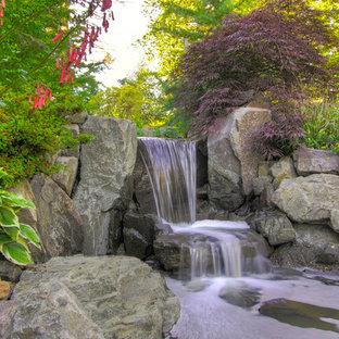 Idéer för en rustik trädgård vattenfall