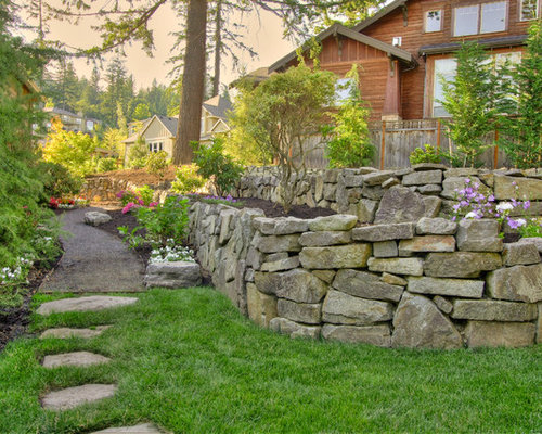 Fieldstone Walls Landscaping : Short rock retaining wall home design ideas pictures