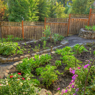 Photo of a traditional vegetable garden landscape in Portland.