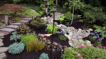 Portland, Oregon Dry Rock Creek Bed and Garden Design