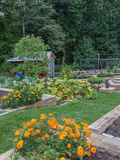 Am nagement de jardin potager avec une pente une colline for Amenagement talus jardin