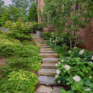Inspiration for a traditional side yard stone garden path in DC Metro.
