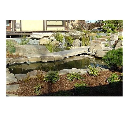 Contemporary Landscape by Potomac Waterworks