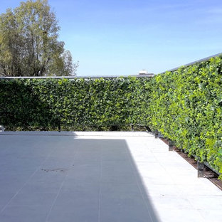 This is an example of a huge modern full sun rooftop landscaping in Dallas for summer.