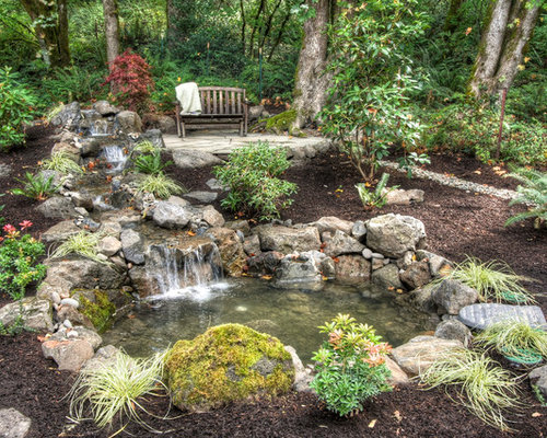 Outdoor ponds and waterfalls home design ideas pictures for Home ponds and waterfalls