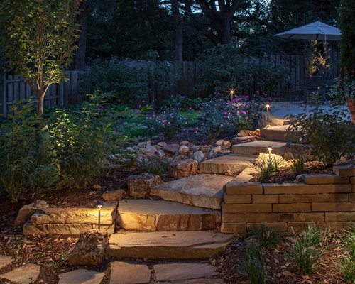 Photo Of A Traditional Retaining Wall Landscape In Omaha.