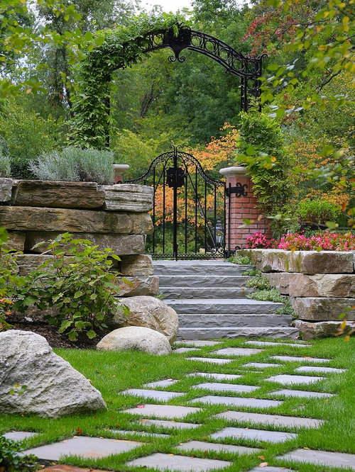 Iron Garden Gate Home Design Ideas, Pictures, Remodel and ...