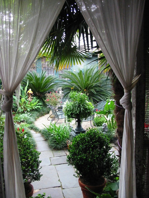 New orleans home decor home design ideas pictures for Tropical courtyard garden design