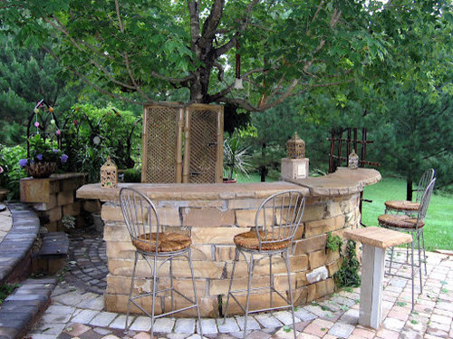 Outdoor Stone Bar Home Design Ideas Pictures Remodel And