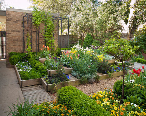 design ideas for a transitional courtyard landscape in oklahoma city
