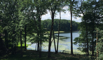 Pruning trees for a view of the lake in Franklin Lakes NJ June 2015