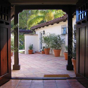 Quaint Spanish Courtyard in Santa Barbara California