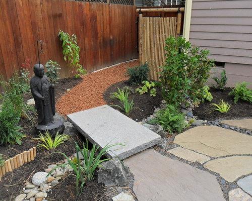 jardin asiatique avec une exposition ensoleill e photos. Black Bedroom Furniture Sets. Home Design Ideas
