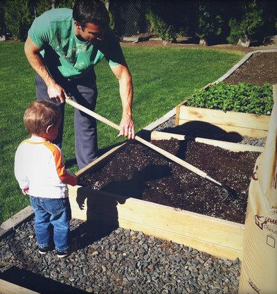 エクレクティック 庭 Raised bed garden