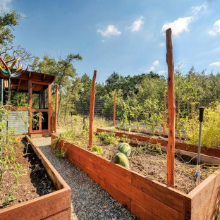 Raised Bed Garden with Potting Shed