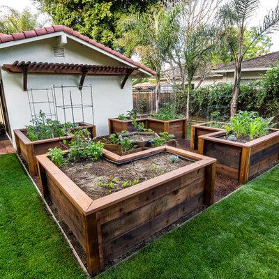 Photo of a small traditional full sun backyard brick formal garden in San Francisco for spring.