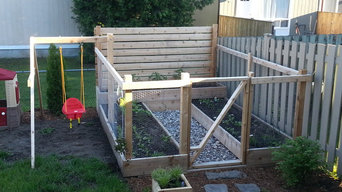 Raised Garden Beds with Swing