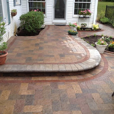 Contemporary Landscape by Apex Landscape and Brick Services LLC