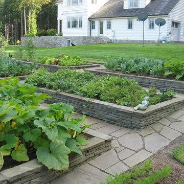Raised Stone Garden Beds
