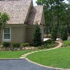 Old World Retaining Wall And Patio Eclectic Landscape