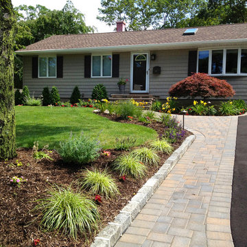 Ranch House Driveway and Front Entry Paving installation