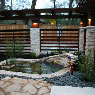Inspiration for an eclectic landscaping in Houston.