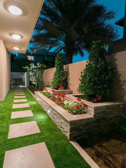 Landscape Design Ideas Pictures beautiful garden landscape design for landscape design ideas with footpath green grassed area flowers trees and Inspiration For A Small Contemporary Side Yard Formal Garden With A Garden Path And Concrete Pavers