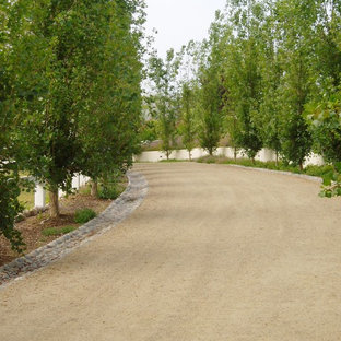 Design ideas for a traditional gravel driveway in San Diego.