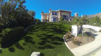 Recent artificial grass installation