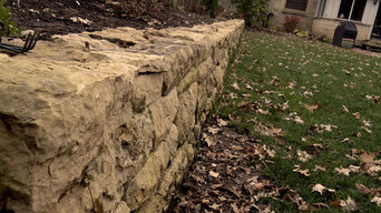 Reclaimed stone wall