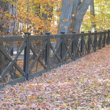 Redding picket fence, stonewall, and cross buck rail fence