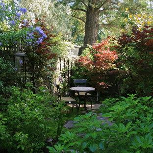 Exemple d'un jardin chic l'automne avec des solutions pour vis-à-vis.
