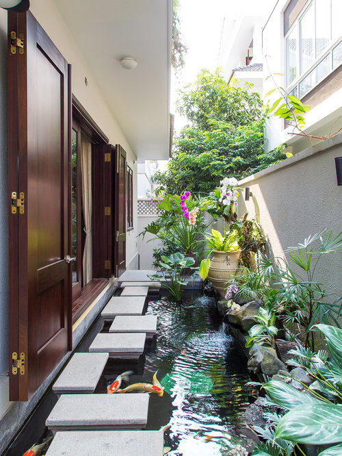 Indoor koi pond houzz for Koi pond in house