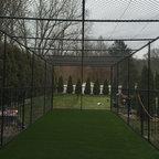 Backyard Batting Cage Traditional Landscape St Louis