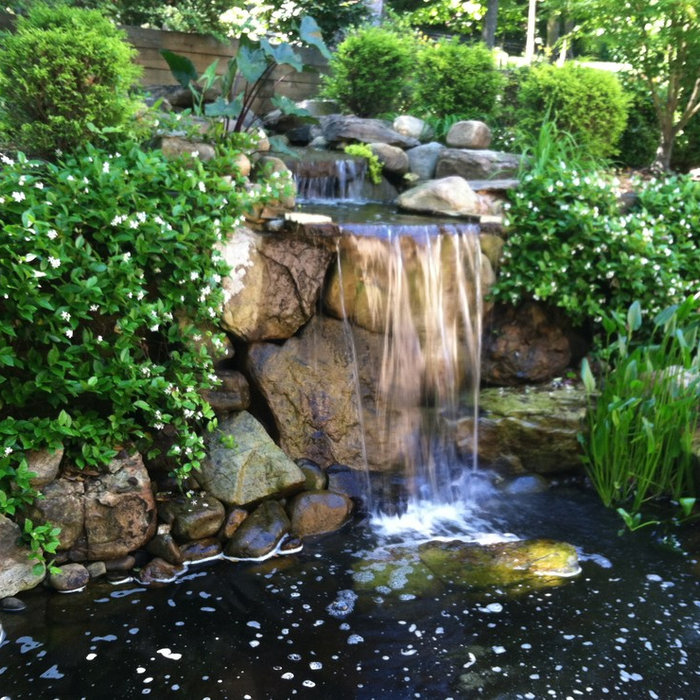 Residential Design & Install with Unique Water Features