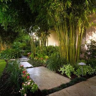ニューオリンズのトロピカルスタイルのおしゃれな庭の写真