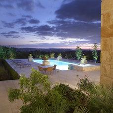 Mediterranean Landscape by Powell Landscape Architecture