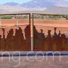 Traditional Landscape by SN Custom Railing, Inc