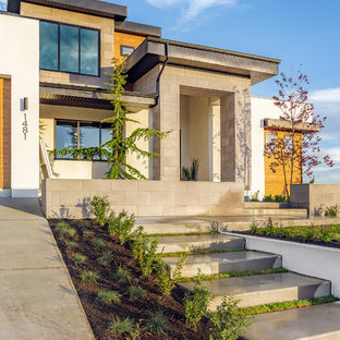 Design ideas for a mid-sized contemporary front yard full sun driveway in Salt Lake City.
