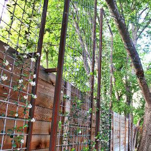Imagen de jardín minimalista, pequeño, en verano, en patio trasero, con jardín vertical
