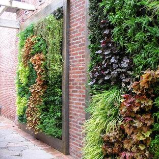 Moderner Garten mit Pflanzwand in Philadelphia